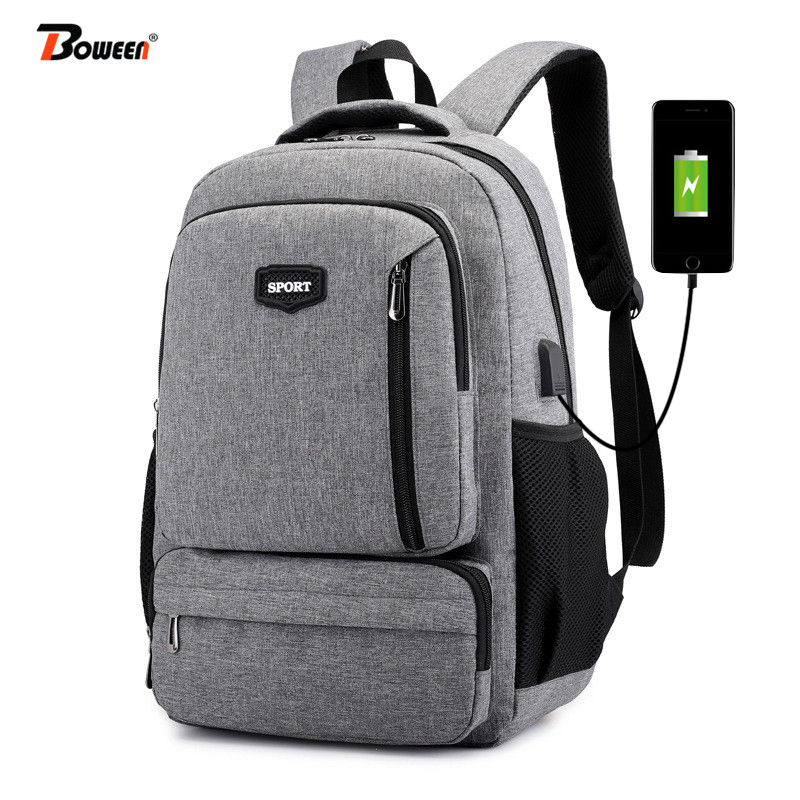 Usb Charging Teen Backpack Men Bag Oxford Casual College University High Schoolbag Teenage Student School Bag  Back Pack Male