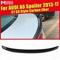 Для Audi A6 C7 Sedan 4 двери из углеродного волокна CF High Kick задний Багажник крыло для губ добавить на стиль S63 вид Клей Тип 13-17