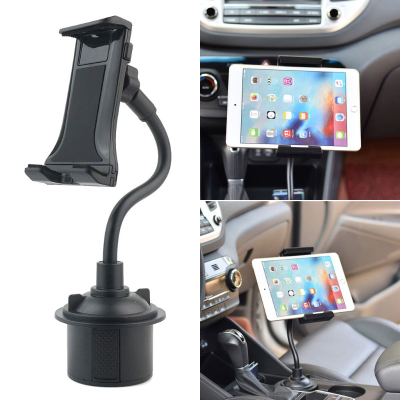 Universal Gooseneck Adjustable Car Cup Holder Mount Cradle For Iphone IPad Samsung Xiaomi Huawei 3.5