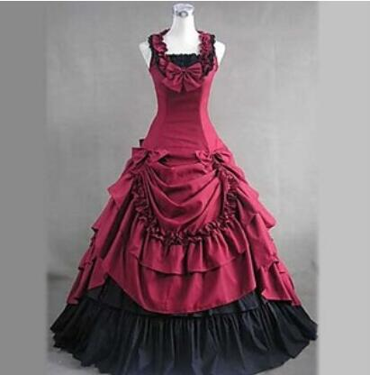 Halloween costumes adult southern belle costume red victorian costumes Ball  Gown Gothic lolita dress plus size