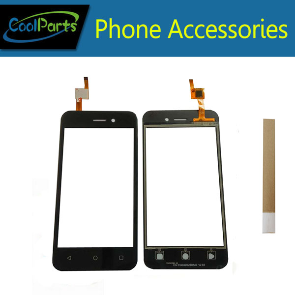 1PC/Lot High Quality For Fly 5S Touch Screen Digitizer Touch Panel Lens Glass Replacement Part With Tape Black Color