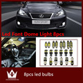 Night Lord 8pcs Error Free Interior LED Light Package Kit for Lexus IS250 ISF 350 accessories reading door lights 2006-2013