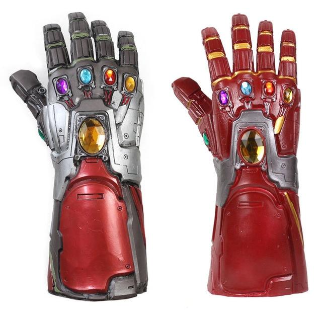 Os Vingadores 4 Endgame Luvas de Látex Homem De Ferro Hulk Marvel Superhero Cosplay Braço Thanos Infinity Gauntlet Crianças Adulto Cosplay Prop