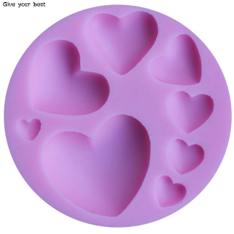 Herzform Silikon Schokoladenform Silikon Herzförmige Form Kuchen - Küche, Essen und Bar - Foto 3