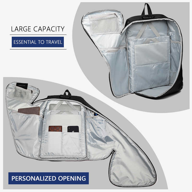 Ozuko anti roubo dos homens mochila masculina 15.6 polegada portátil mochilas moda grande viagem adolescente mochila saco à prova dwaterproof água escola