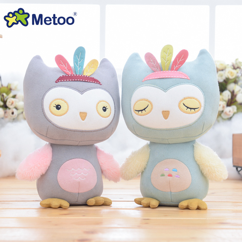 7.5 Inch Sweet Cute Owl Kawaii Plush Stuffed Animal Cartoon Kids Toys for Girls Children Baby Birthday Christmas Gift Metoo Doll cartoon fox plush toys donkey cute animal plush education toys for baby kids birthday gift