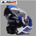 Free shipping dual lens LS2 FF370 motorcycle helmet visor exposing new cost-effective full-face helmet / Green Underworld