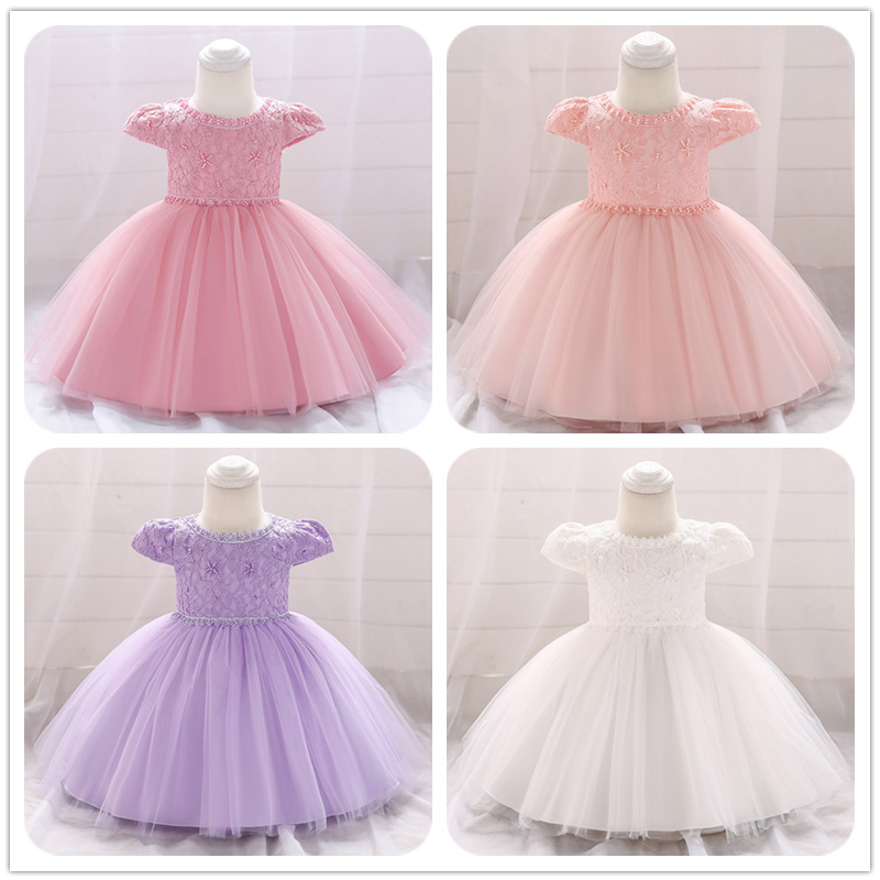 Baby costume ball gown for   girl     girls   party   dress   newborn   flower     dresses   first communion baptism vestido fluffy clothing