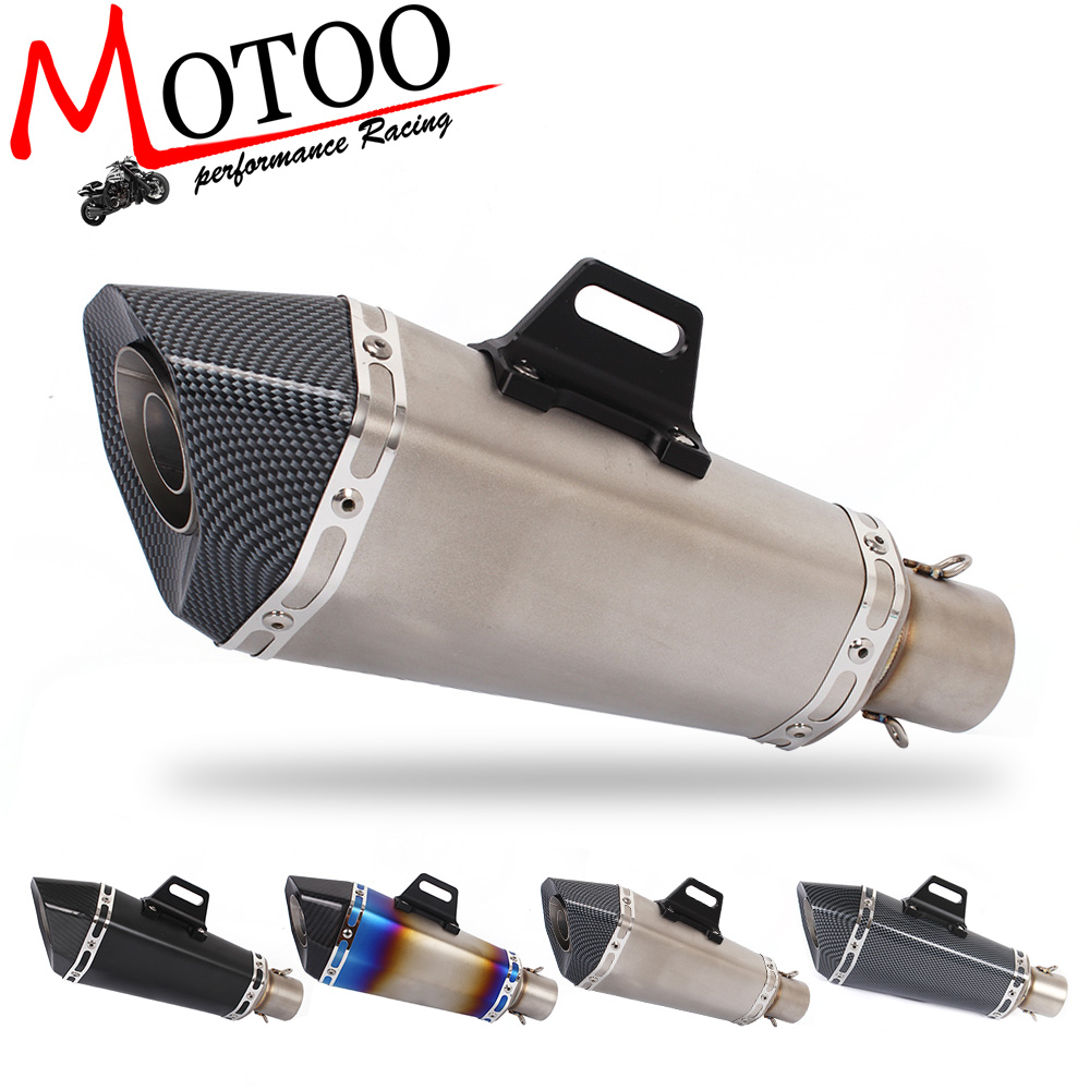Motoo Universal 36 51mm exhaust Motorcycle stainless steel Modified Scooter Exhaust Muffle