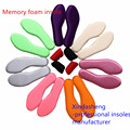 O envio gratuito de 2015 mais novo da espuma da memória palmilhas massagem nos pés palmilha personalizada mulheres e homens sapatos palmilha