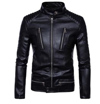 mens leather jacket slim motorcycle coat jackets clothes personalized jaqueta de couro stage street dance rock fashion punk