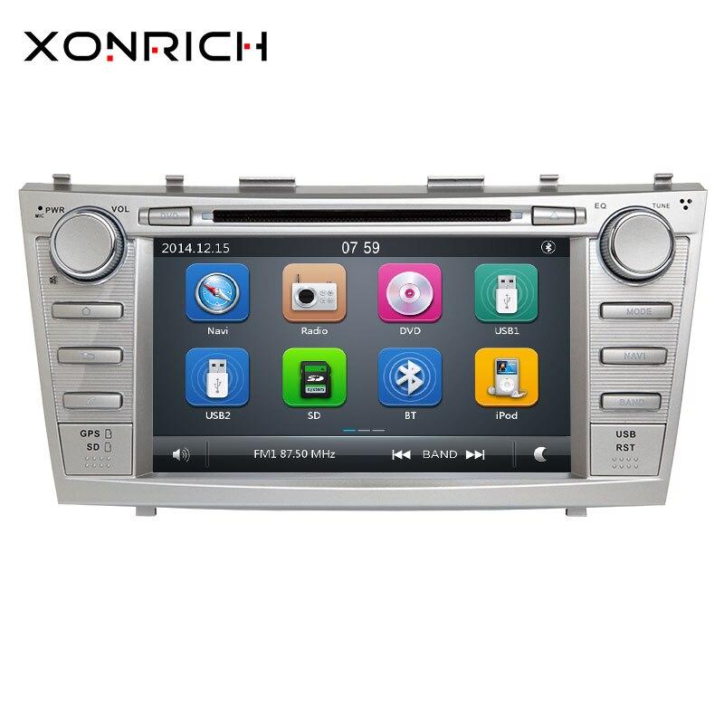 Xonrich 2 din lecteur multimédia de voiture pour Toyota Camry 2007 2008 2009 2010 2011 Aurion 2006 magnétophone AutoRadio