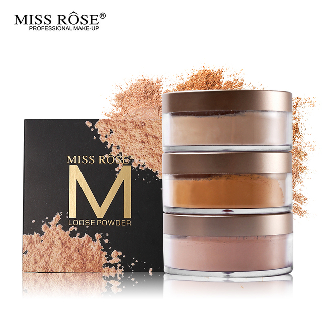 Miss Rose 12 Colors Face Foundation Makeup Transparent Loose Powder Oil-control Silky Setting Powder Mineral Matte Finish Tools 2