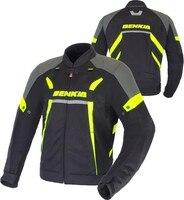 BENKIA メンズオートバイのジャケットモトクロスジャ通気性バイク乗馬ジャケットバイカーライダー保護秋