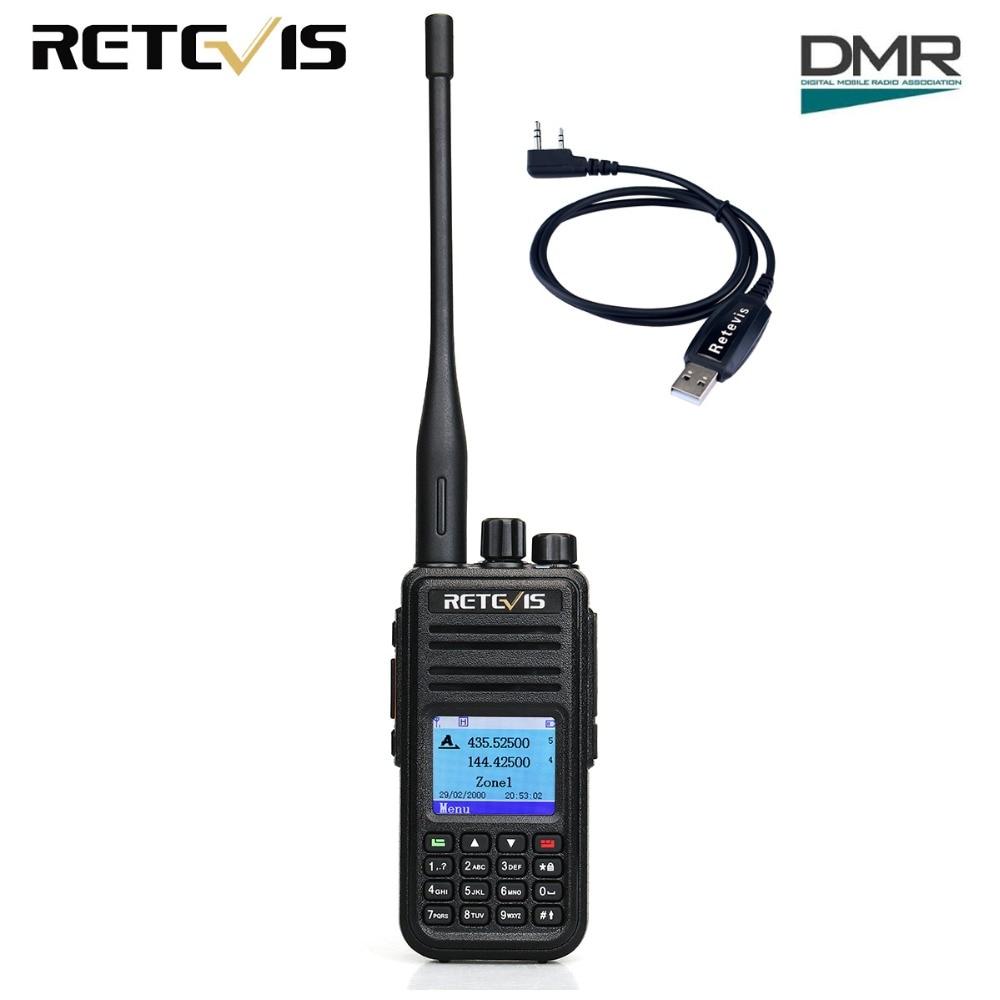 Retevis RT3S Walkie Talkie Dual Band DMR Radio UHF VHF Radio GPS DCDM TDMA Ham Radio Staion Dual Time Slot