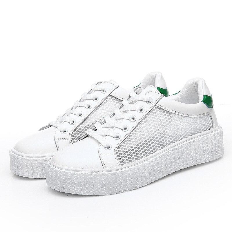 Chaussures Cuir Air 2017 Doux Marque En Femmes Appartements Noir vert Plein Confortables Classique Occasionnels Aa40105 nfqnwU0tP