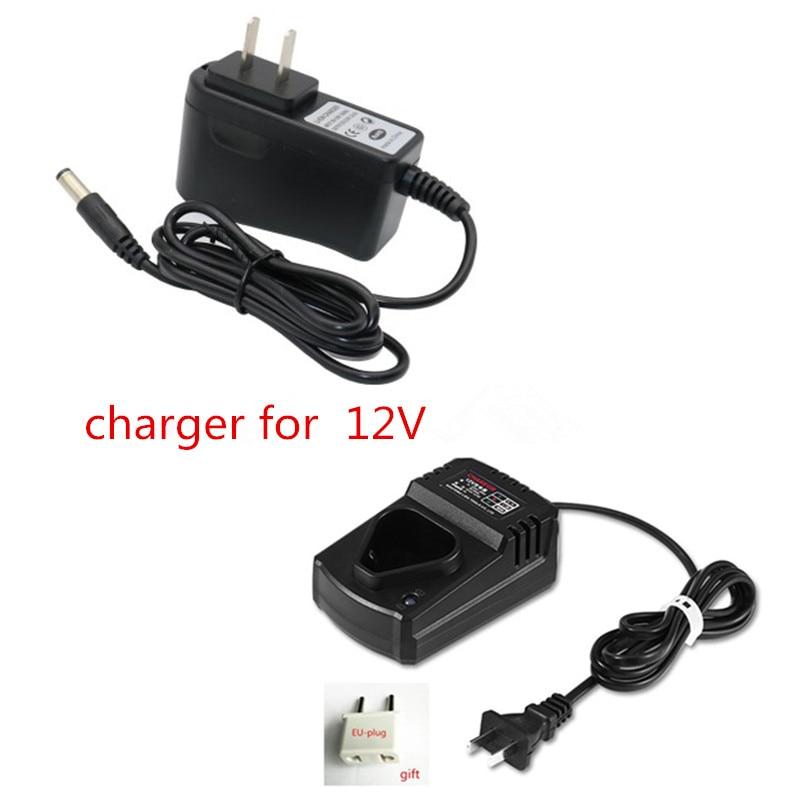 Charger for CHINA  LOMVUM LONGYUN FOGO GEMAISI CAVANI 12V Li-Ion Battery Cordless Drill Driver Screwdrive 1 pc li ion battery charger for bosch drill 18v 14 4v rechargerable battery charger bat609 bat609g bat618 bat618g t0 16