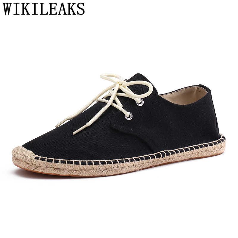 Espadrilles Männer Leinwand Schuhe Männer Sommer Herren Schuhe Casual Atmungsaktive Schuhe Marke Zapatos De Hombre Chaussure Homme Buty Meskie
