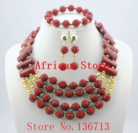 Splendid African Beaded Coral Jewelry Set African baby pink Crystal Beads Jewelry Set for Wedding New R672