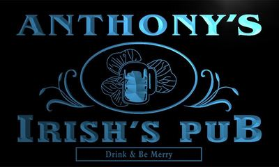 x0022-tm Anthonys Irishs Pub Shamrock Custom Personalized Name Neon Sign Wholesale Dropshipping On/Off Switch 7 Colors DHL