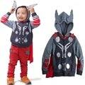 Hot!! The Avengers 3-10yrs Boy's Jacket&Coat,Children Thor Cosplay Jacket,New improve cap Spring Long Sleeve hoodies