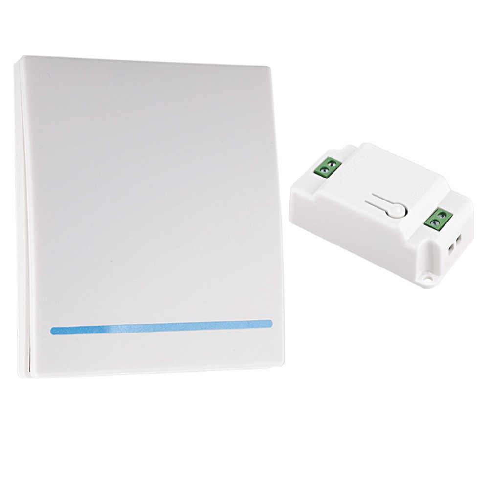 2019 nuevo 110V 220V receptor interruptor inteligente interruptor inalámbrico luz RF Control remoto AC Panel de pared tipo 86 433Mhz