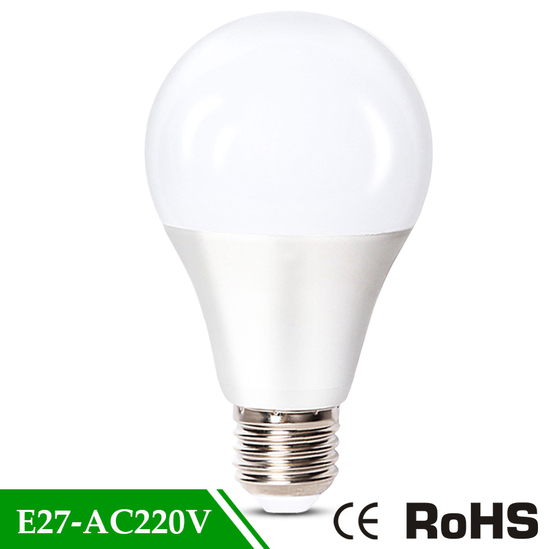 AC220V Cold Warm White Bombillas led Real power led lamp 3w 5w 7w 9w 12w 15w E27 LED Light Bulb 2835 Lampada led bulbs 220v e27