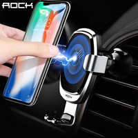 ROCK Wireless Car Charger for iPhone 8 Plus X XS,Gravity Car Phone Holder for Samsung S9 S8 Note 9 8 Quick Charge 10W 7.5W