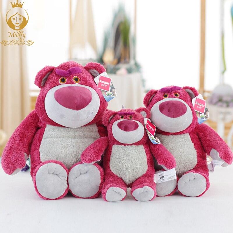Высокое качество оригинальный Toy Story Lotso Клубника Медведь Q милый каваи вещи Плюшевые Игрушки для маленьких девочек подарок на день рождения ...