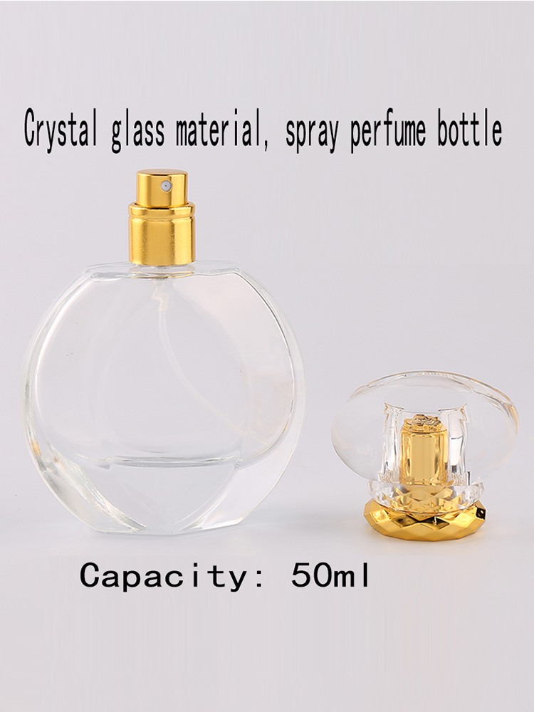 Jxcaih 1pcs  50ml Clear Glass Empty Bottle Can Be Sprayed Enough Spray Bottle Smell Travel Portable Reusable Perfume Bottle
