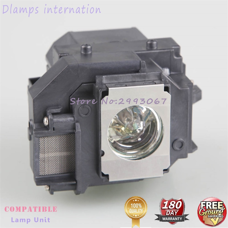 ELPLP58 EB X92 EB S10 EX3200 EX5200 EX7200 EB S9 / EB S92 / EB W10 / EB W9 / EB X10  EB X9 for EPSON projector lamp with housing-in Projector Bulbs from Consumer Electronics
