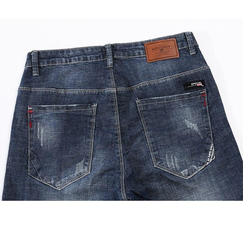 KSTUN Mens Biker Jeans Ripped Summer Slim Fit Straight Elasticity Blue Street Wear Male Trousers Long Jeans Men Motocycle roupas 12