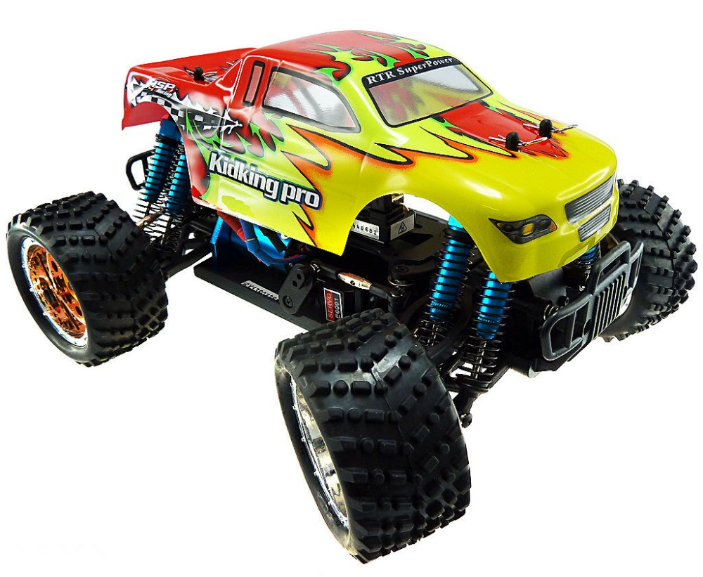 HSP Rc Car 1/16 Brushless Motor Electric Power Remote Control Car 94186 KidKing RTR 4wd Off Road Monster Truck High Speed Hobby hsp rc car 1 10 scale off road monster truck 94111pro remote control car high speed hobby brushless motor 4wd electric car