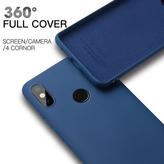 Oryginalny płynny silikonowy pokrowiec do Xiaomi Mi 9 SE 8 Lite CC9 MIX 2 3 2S Mi 10 zagraj Redmi uwaga 6 7 Pro 6A K20 miękki TPU telefon okładka