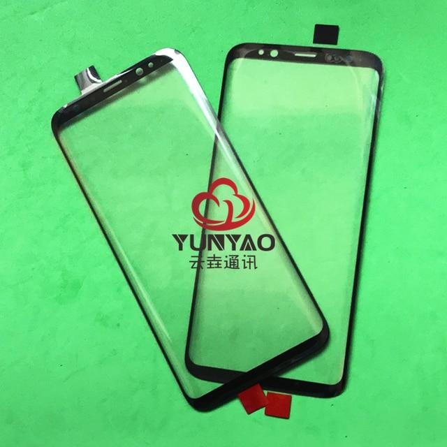 10 Pcs เปลี่ยน LCD หน้าจอสัมผัสหน้าจอกระจกเลนส์ด้านนอกสำหรับ Samsung Galaxy S8 S8 Plus S9 S9 Plus S10 s10 Plus หมายเหตุ 8 หมายเหตุ 9