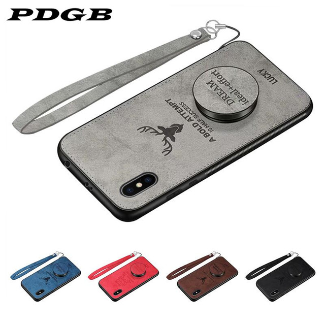 PDGB Rugged TPU Case for Meizu M6 M5 Note Meilan Note 8 5 6 Meizu M6T M6s S6 X8 M8 V8 Pro Cloth Pattern Cover Elk Deer Shell