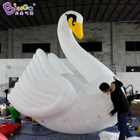 2018 Newly Lovely swan balloon 4m giant Inflatable swan model swan toys float for outdoor event water sport carnival decoration