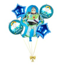 5pcs Large Buzz Lightyear Foil Lot Balloons Birthday Party Decorations Kids Babyshower Girl Decor Globos Home Supplies