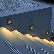 3W Outdoor Led Stair Step Light Waterproof Recessed Wall Corner Light LED Footlight For Landscape Pathway stairway AC85-265V