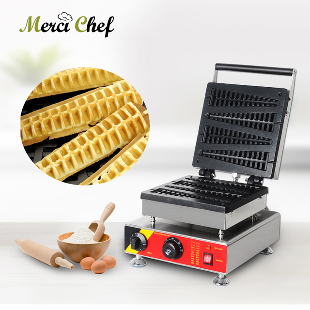 ITOP Electric Waffle Maker Non Stick Stainless Steel Commercial Professional Waffle Maker Cake Pastry Oven Machine 110~240V