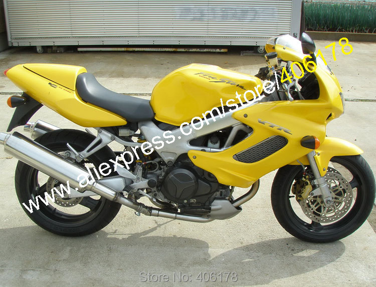 Hot Sales,Yellow for Honda VTR1000F 1997- 2005 97 98 99 00 01 02 03 04 05 VTR 1000F Aftermaket moto Accessories Fairing рычаги тросики и кабели для мотоцикла rctoper honda vtr1000f firestorm 98 99 00 01 02 03 04 05