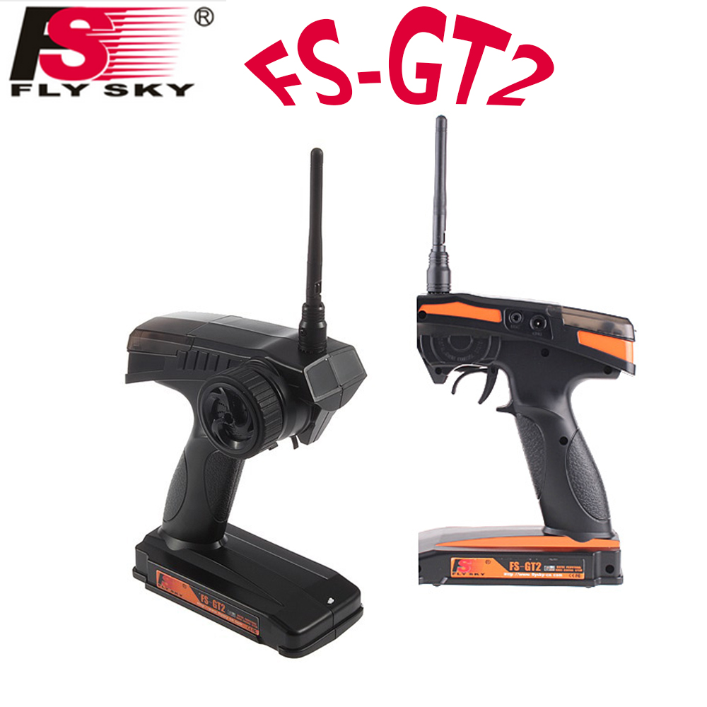 1pcs Brand Flysky FS-GT2 2.4G 2CH Radio Model RC Transmitter & Receiver for Remote Control Car Boat Dropship Wholesale fs gt2 2ch 2 4 ghz radio remote control transmitter and receiver rc car boat rc toy part