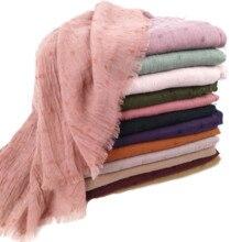 N8 جودة عالية عادي مصبوغ وشاح فسكوز الحجاب شال سيدة التفاف عقال طويل شال 10 قطعة/1 مجموعة يمكن اختيار الألوان