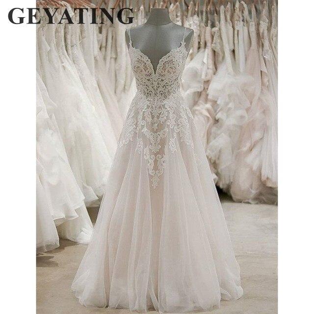 Greek Style Boho Bohemian Wedding Dresses Spaghetti Straps: Aliexpress.com : Buy Vintage Lace Beach Boho Wedding Dress