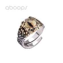 Two Tone 925 Sterling Silver Tiger Eye Ring for Women Girls Adjustable Size 7-9 Free Shipping недорого