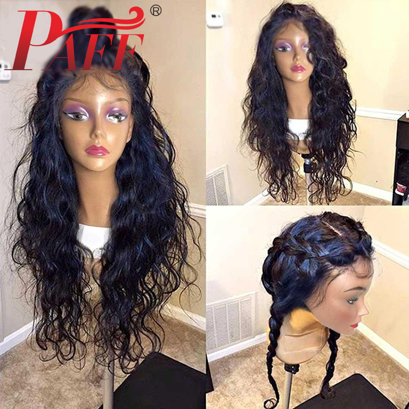 PAFF Water Wave Glueless Full Lace Human Hair Wigs with Baby Hair Brazilian Remy Hair Lace Wigs Bleached Knots Pre Plucked