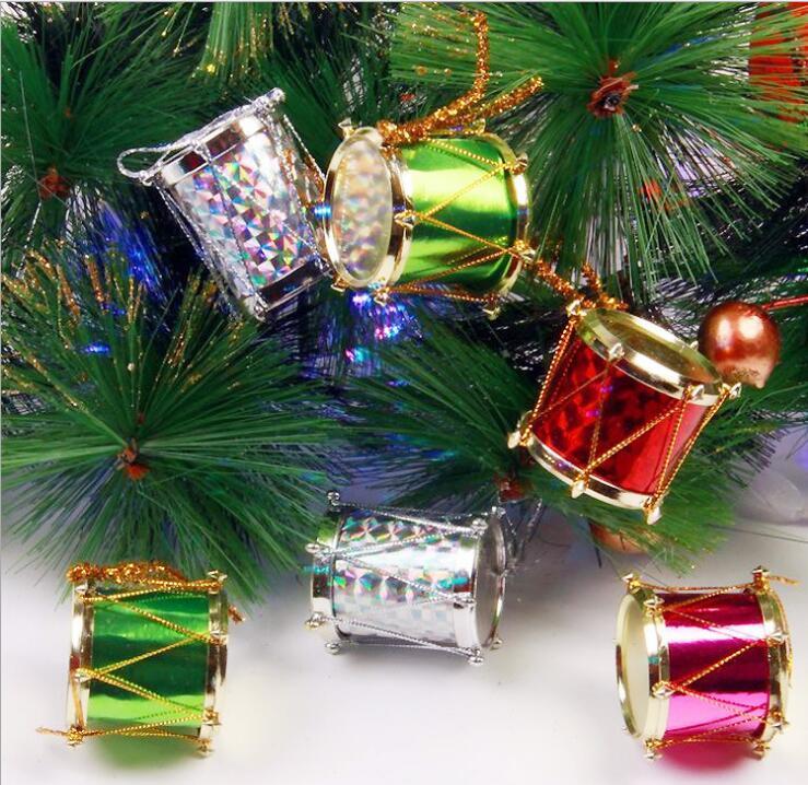 24pcs mixcolor laser christmas tambourine christmas tree for Decoraciones de navidad para el hogar