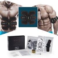 Rechargeable Muscle Training Stimulator Device Slimming EMS Belt Gym Professional Massage Abdominal Unisex Fitness Ab Toner