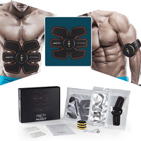 Rechargeable Muscle Training Stimulator Device Slimming EMS Belt Gym Professional Massage Abdominal Unisex Fitness Ab Toner