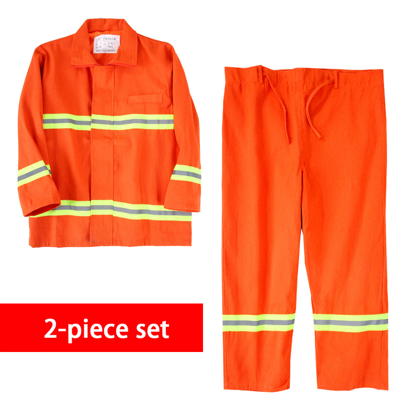 Fire Fighting Suit Fireproof Equipment Flame-retardant Protective Clothing Miniature Fire Station Combat Suits Safety Clothes